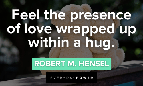 Hug Quotes about love