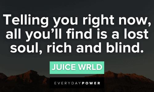 Juice WRLD quotes about a lost soul