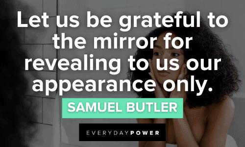 Mirror Quotes about gratitude