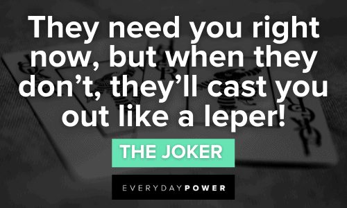 Joker quotes about life