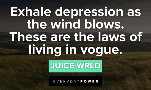 Juice WRLD quotes exhale depression