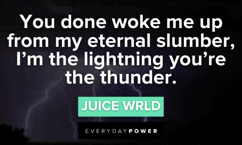 Juice WRLD quotes i'm the lighting