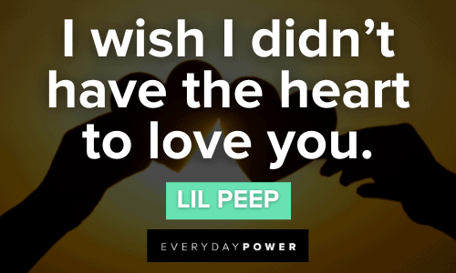 Lil Peep quotes about loving