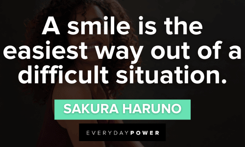 Naruto Quotes about smiling