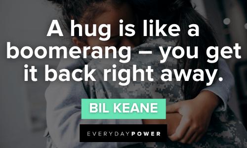 powerful Hug Quotes