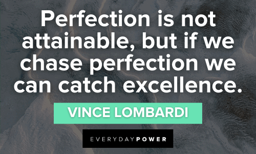 Rejection Quotes about perfection