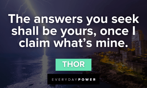 Superhero Quotes from thor