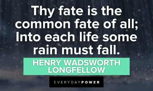 Rain Quotes about fate