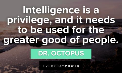 Superhero Quotes about intelligence