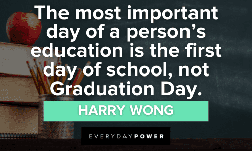 First Day of School Quotes on the importance of education