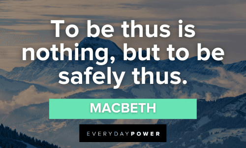 Macbeth Quotes About life