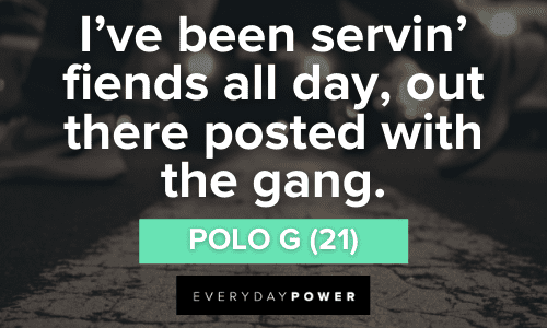 Polo G Quotes about firends