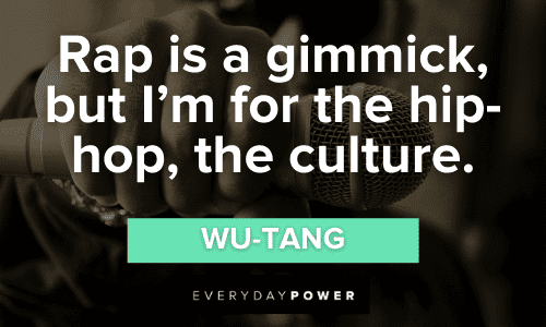 Wu-Tang Quotes about rap