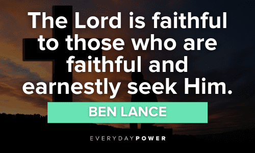 Faith Quotes about the lord
