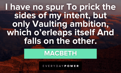 Macbeth Quotes About power