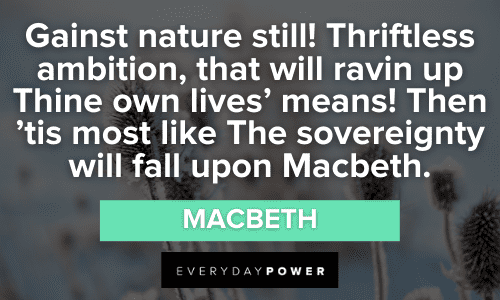 Macbeth Quotes About nature